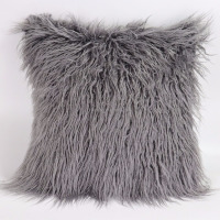 "Decorative New Luxury Series Merino Style Faux Fur Throw Pillow Case Cushion Cover 18"" x 18"" 45cm x 45cm"