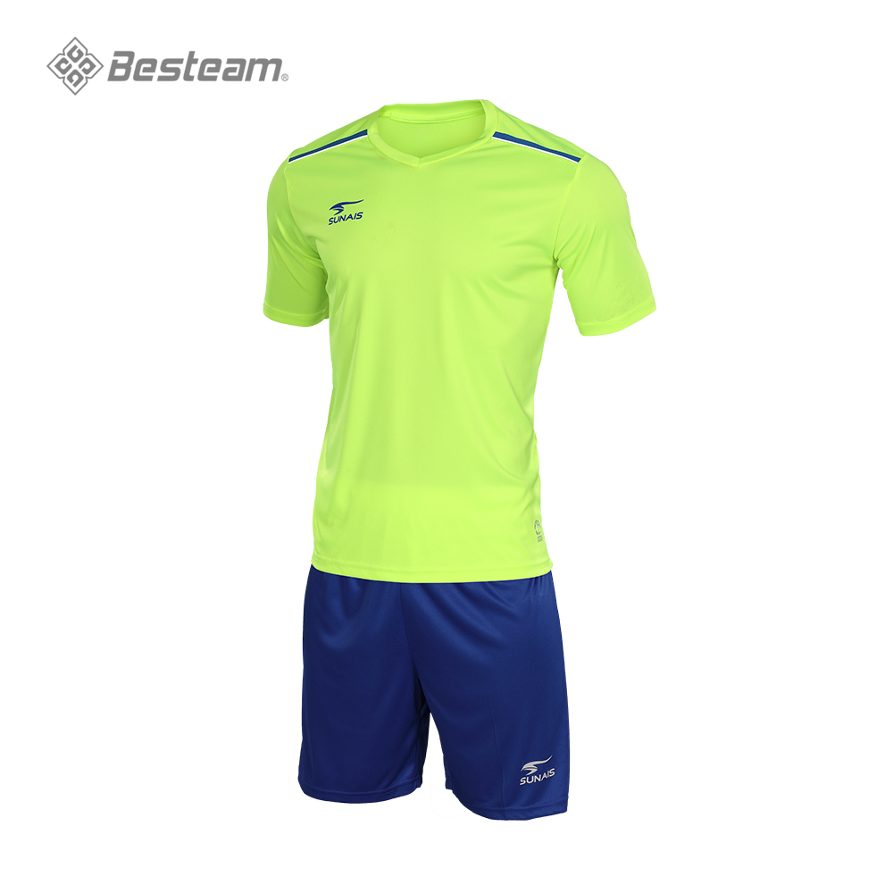 44269dea9 2019 New Design Wholesale top thailand quality new product men custom  football teams t-shirt sets kids Football Uniform