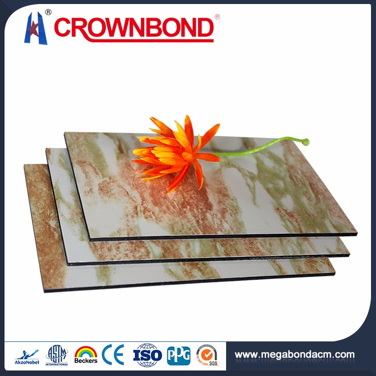 Crownbond marble porcelain composite panels,marble design aluminum composite sheets,marble pvdf coated aluminum wall panel