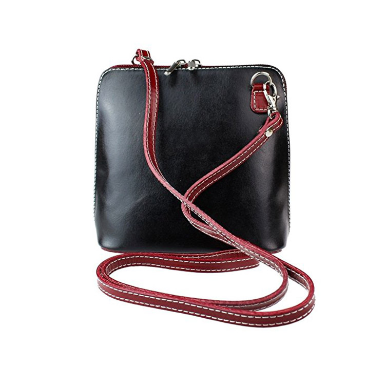 1HD0234 Wholesale Hot Sale Shell Shape Crossbody Shoulder Bag Black Soft PU Leather Small Handbags For School Fashion Girls