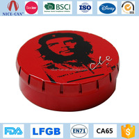 customized candy mint Small Round Gift Tin Box Container