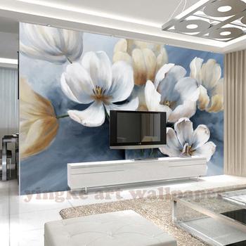 Benutzerdefinierte Blumen Tapeten Foto Tapete Vlies Moderne Malerei 3d  Tapete Für Wohnzimmer Küche Wandbild Tapete - Buy 3d Wandbild Tapete  Moderne,4d ...
