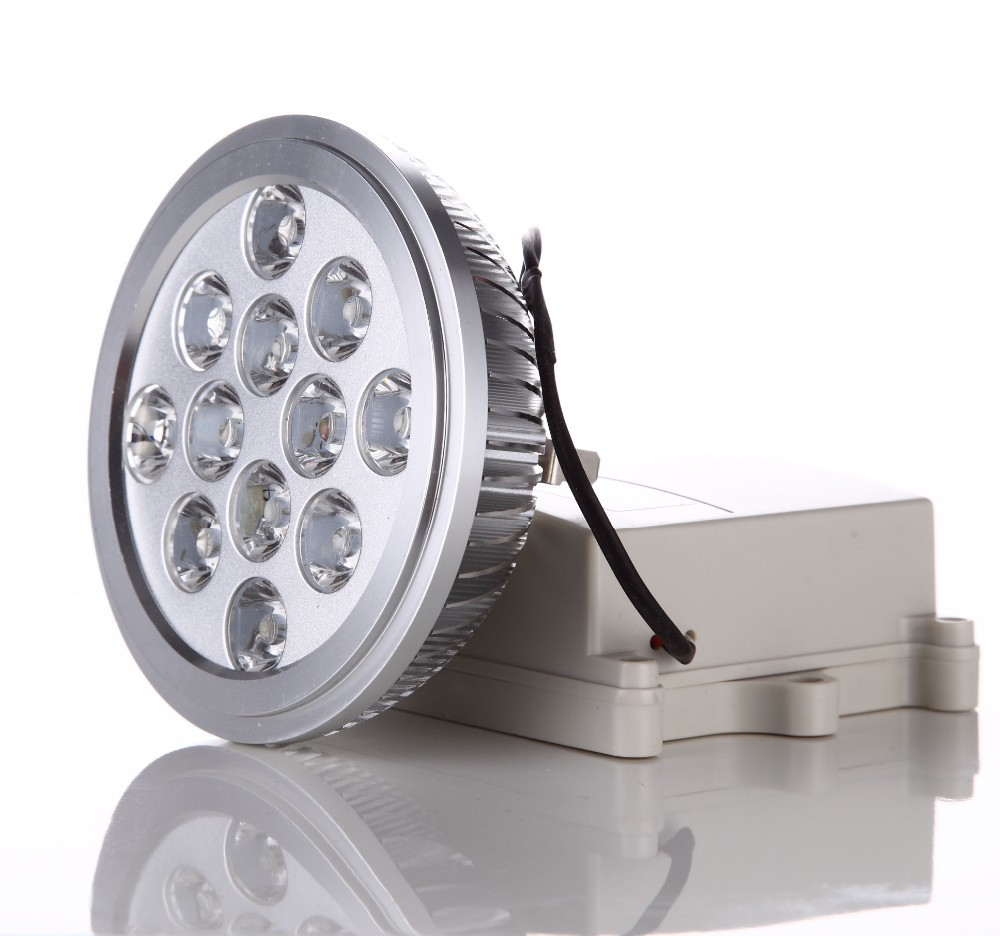 LED AR111 Dimmable Spotlight 15w G53 220V Lens + Extrusion Aluminum Equivalent to 100W Halogen Lamp for Home Lighting 2pcs/lot