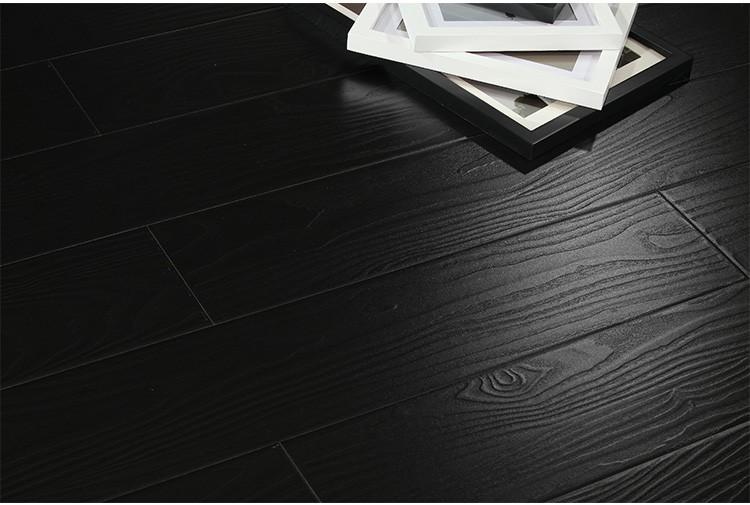 Black U Groove 12mm Hdf Wood Laminate Flooring Buy Black