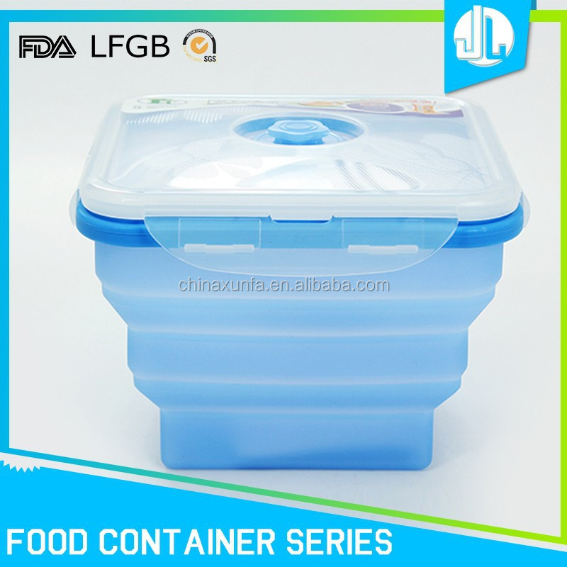 Colorful biodegradable material space save food box container