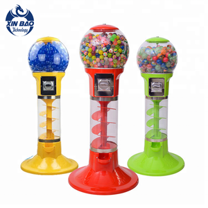 China Factory Coin Operated Plastic Vending Machines Wholesale Cheap Price Spiral Candy Toy Gumball Vending Machine For Sale