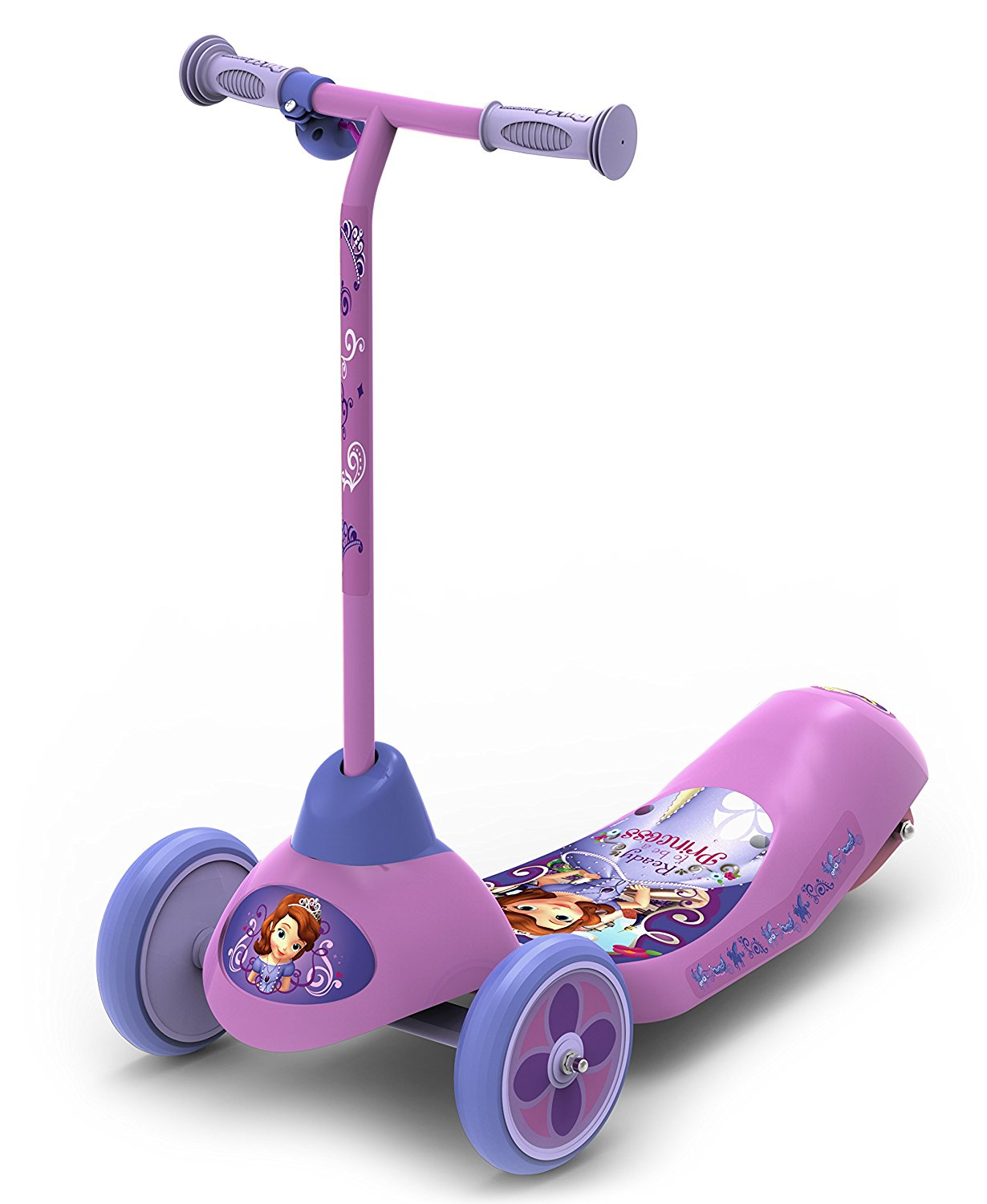Pulse Performance Products Disney Sofia the First Safe Start 3-Wheel Electric Scooter
