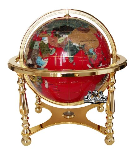 Cheap lapis gemstone globe find lapis gemstone globe deals on line get quotations unique art 21 inch tall red lapis ocean table top gemstone world globe with 4 gumiabroncs Image collections