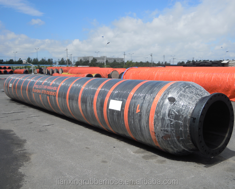 large diameter rubber hose/oil gas dredging rubber float hose/marine flexible floating hose