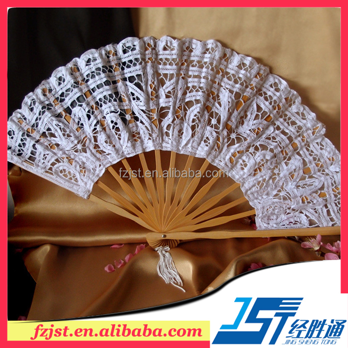 Vintage wedding gift white hand lace fan wholesale