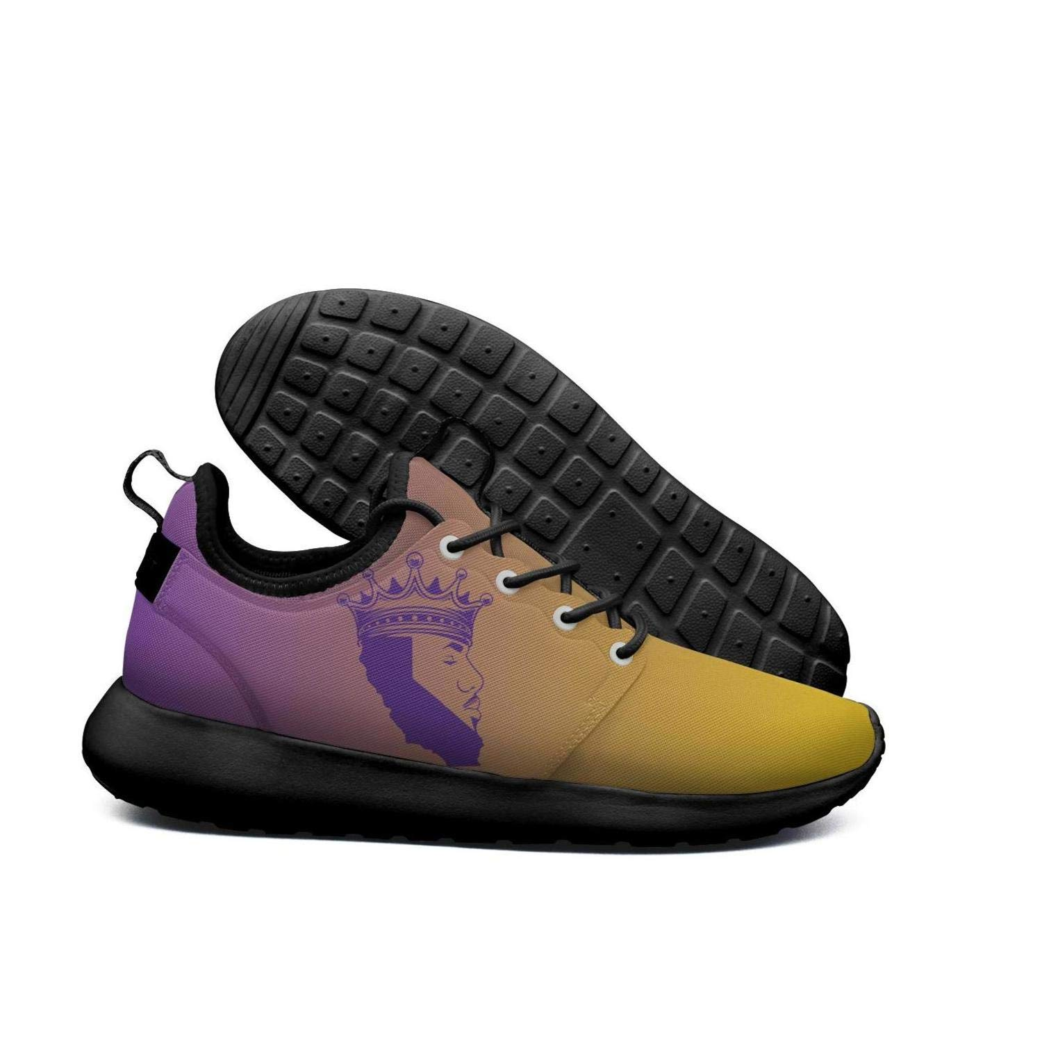 b5dfe0fb071 Get Quotations · Womens Roshe Two Lightweight  Purple Basketball 23 Crown Kings LA Coll Road Running mesh Shoes