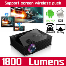 Bt460 Smart Airplay Miracast WIFI HD Home Theater LCD Portable HDMI USB Video Game LED Mini Projector For Iphone Ipad Samsung