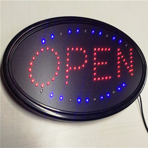 Hot indoor/outdoor led open sign coffee storefront flashing open sign