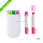 gel colorful highlighters in plastic box for school & office