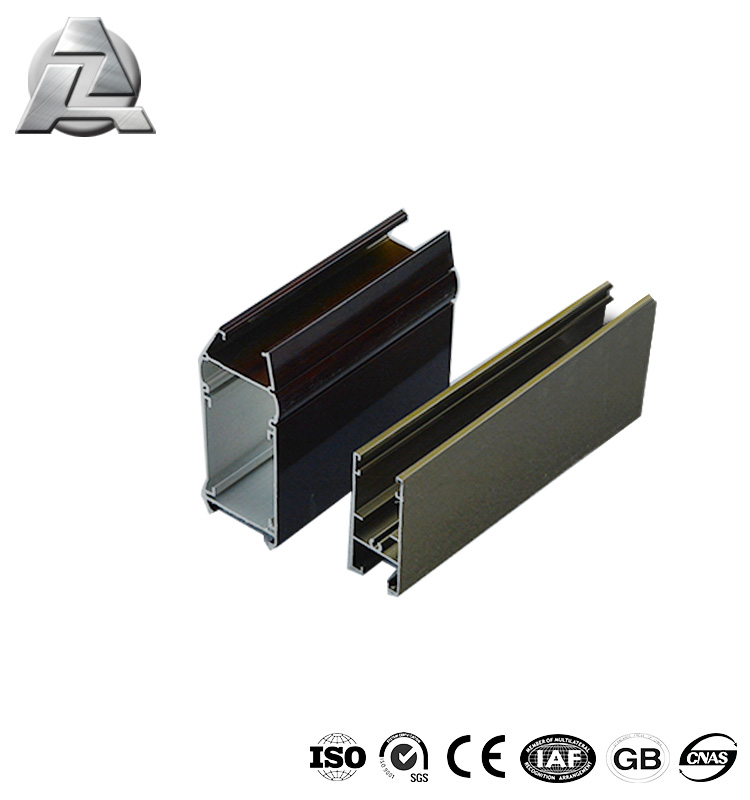 Various styles aluminum profile extrusion for slide door rail