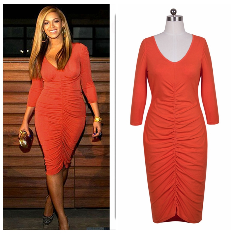 2015 usa brand star beyonce bodycon dresses casual sexy ...