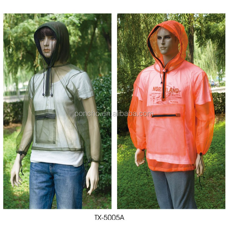 Polyester mosquito netting jacket, netting suit