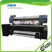 Direct to textile fabric sublimation inkjet printer with heater