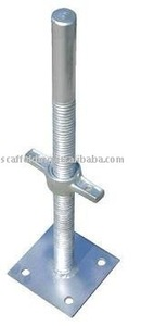 adjustable threaded base plate for scaffolding BS018