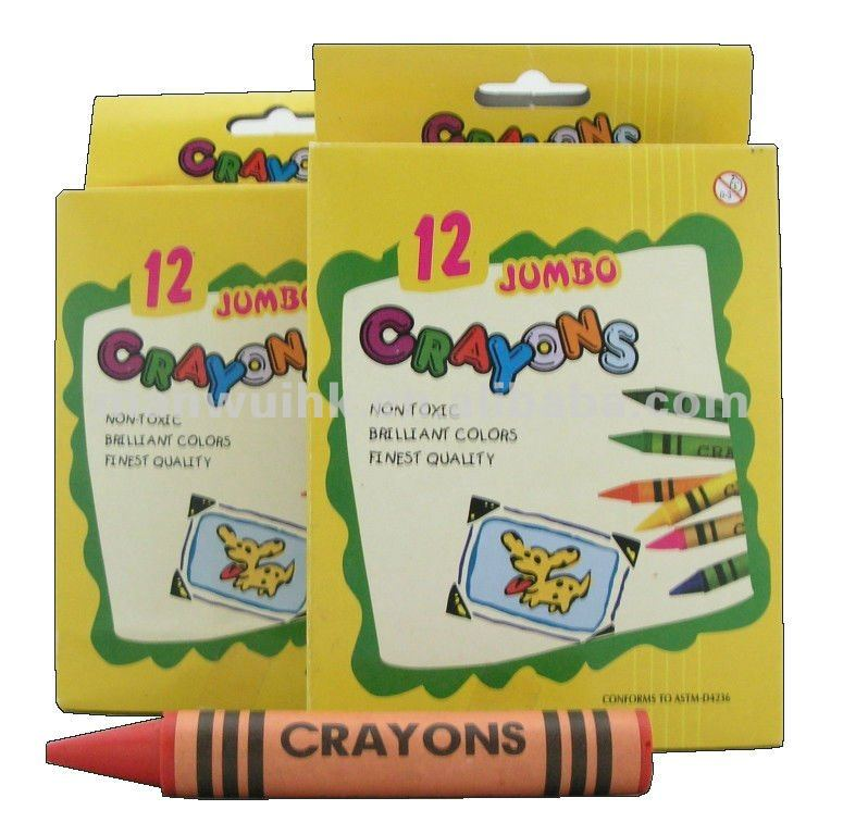 RJ12 12 Colours Jumbo Wax Crayon