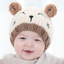 Fashion Baby Girls Boys Kids Knit Cap Warm lovely Toddler Earflap Hat