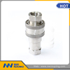 quick release coupling ball lock check valve hose end fitting male female ISO7241B