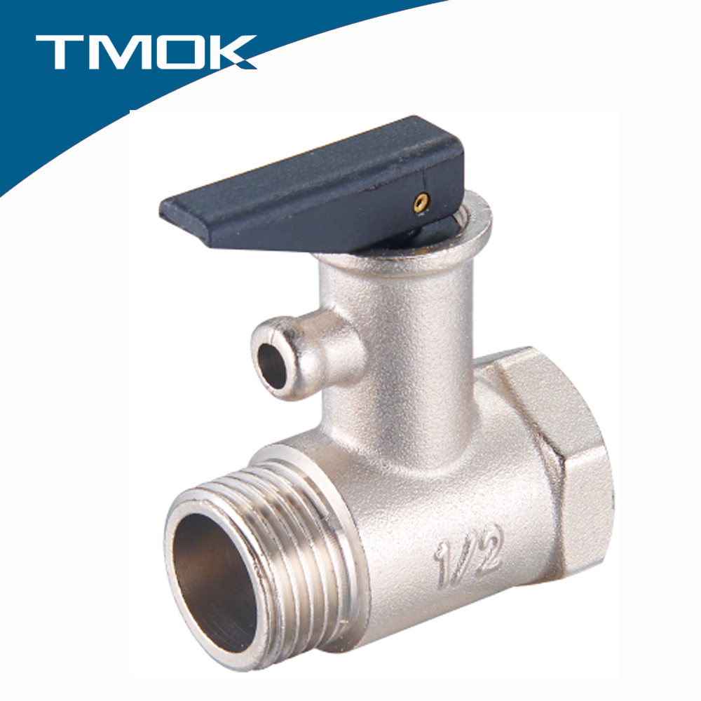 yuhuan industry water heater brass safety valve customized forged male threaded pressure relief valve for solar water