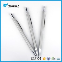 China pen factory promotion office & school supplies metal press ball pen printed with custom printed logo