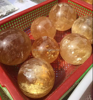 natural rock citrine quartz crystal ball sphere