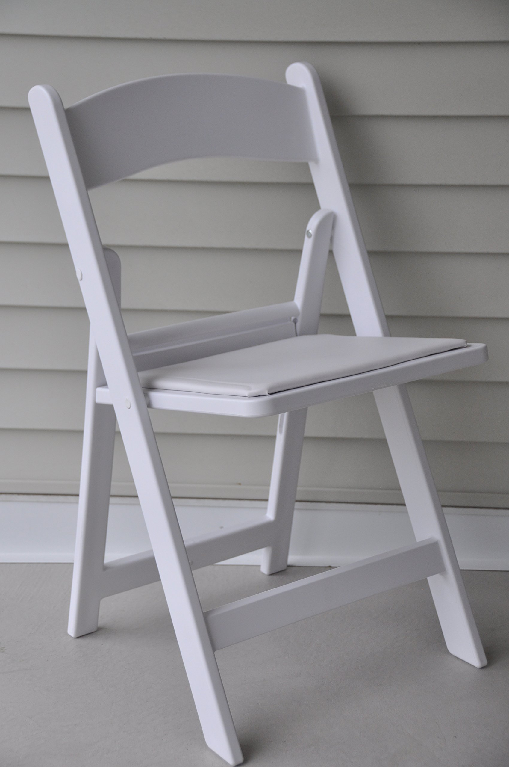 Exceptionnel Get Quotations · Folding Chairs   White Resin Heavy Duty Stackable Folding  Banquet Chairs   64 Pack