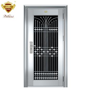 Factory Direct Sale Stainless Steel Door House Front Door Designs Best Security Door Designs