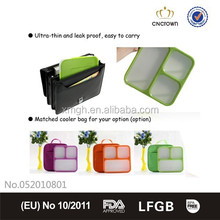 Cube shape microwave safe leakproof lunch box at HK fair