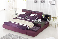 home furniture bedroom hot sale storage fabric bed B012