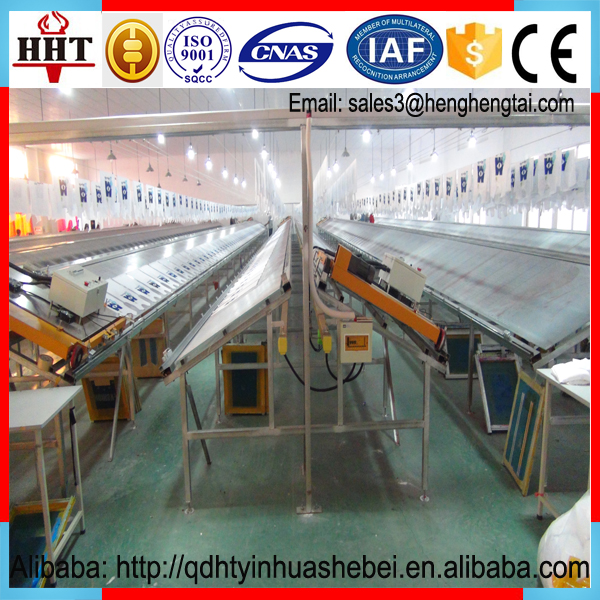 manual textile sloping screen printing table