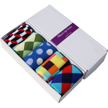 Free Shipping combed cotton brand men scoks,colorful dress socks (5 pair / lot )