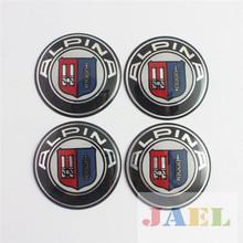 4Pcs ALPINA Logo 65mm Wheel Center Hub Caps for Alpina Emblem Sticker