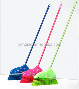 plastic cleaning soft broom with handle