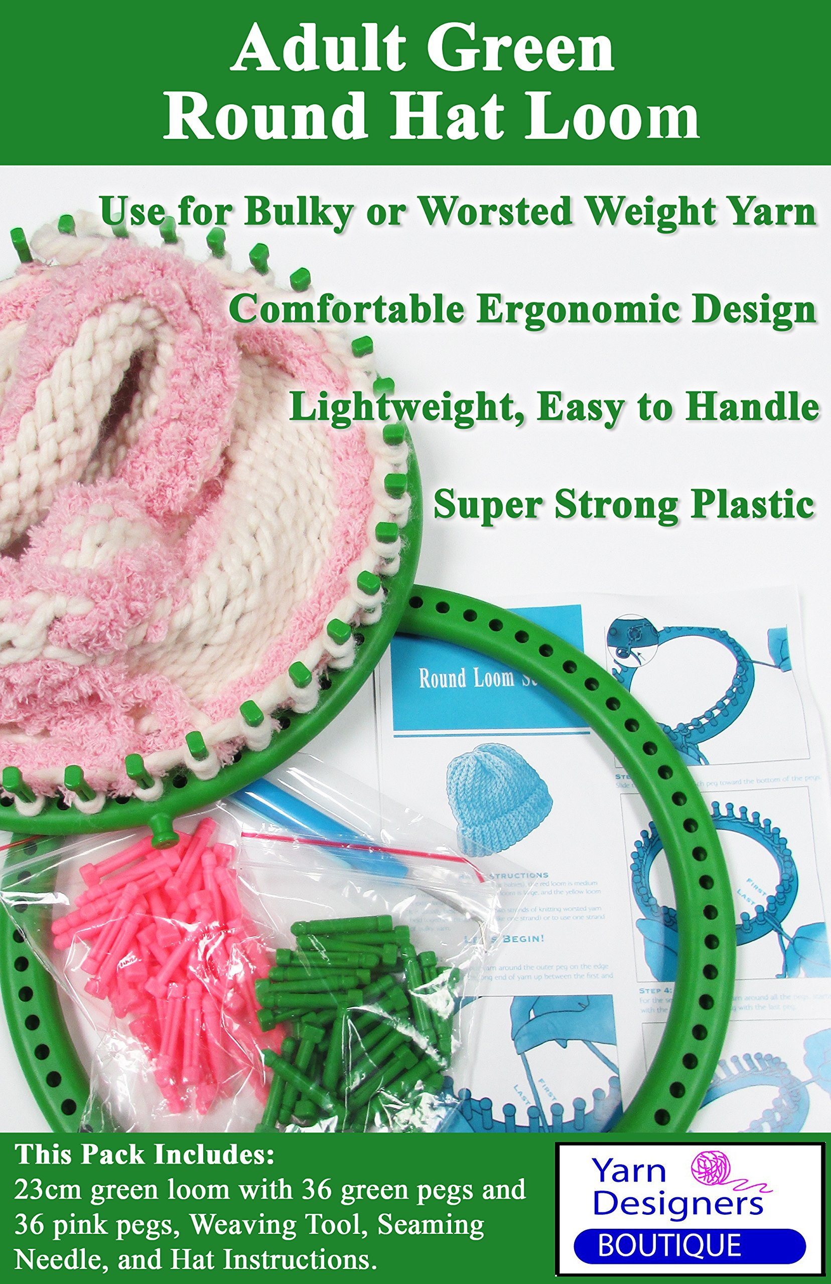 Kocome 24 CM Green Round Circle Hat Knitter Knifty Knitting Knit Loom Kit