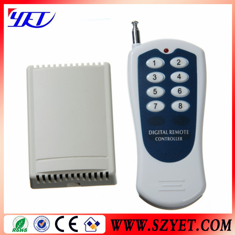 12v DC output 8 Channel Wireless Rf Remote Control Switch