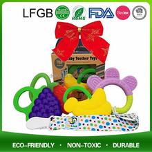 Custom Made Silicone Baby Teethers Teething Ring Wholesale