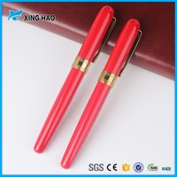Red charming metal roller pen promotion gift metal ball pen