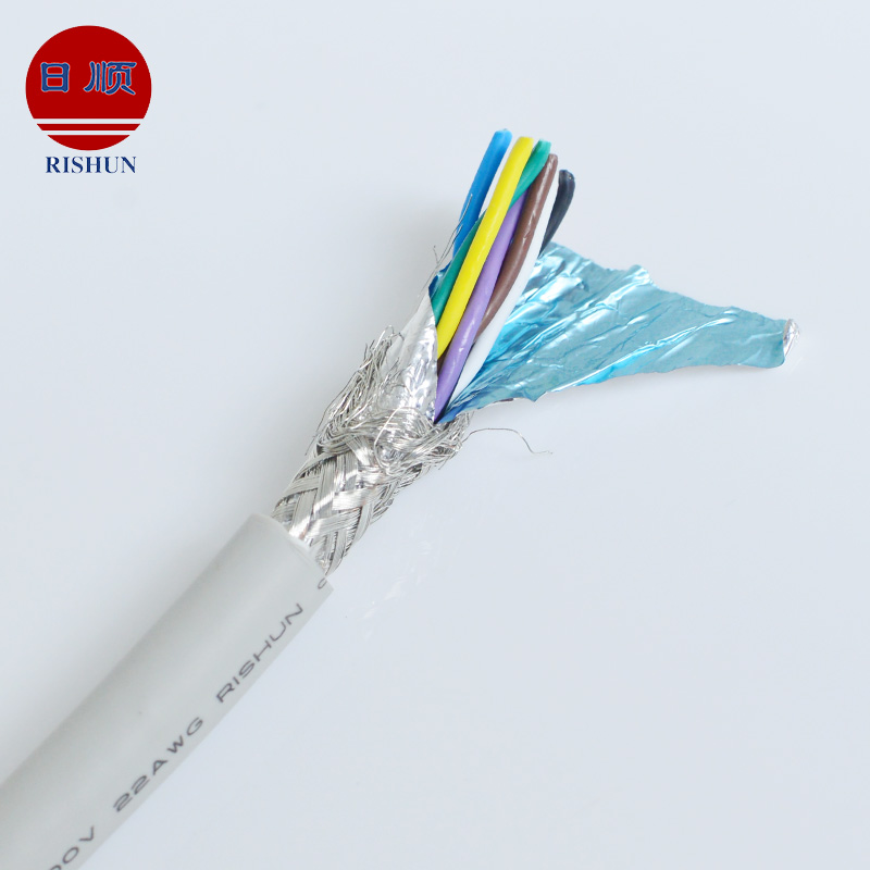 UL21143 multi conductor FRPE jacket braid metal shielded electrical cable