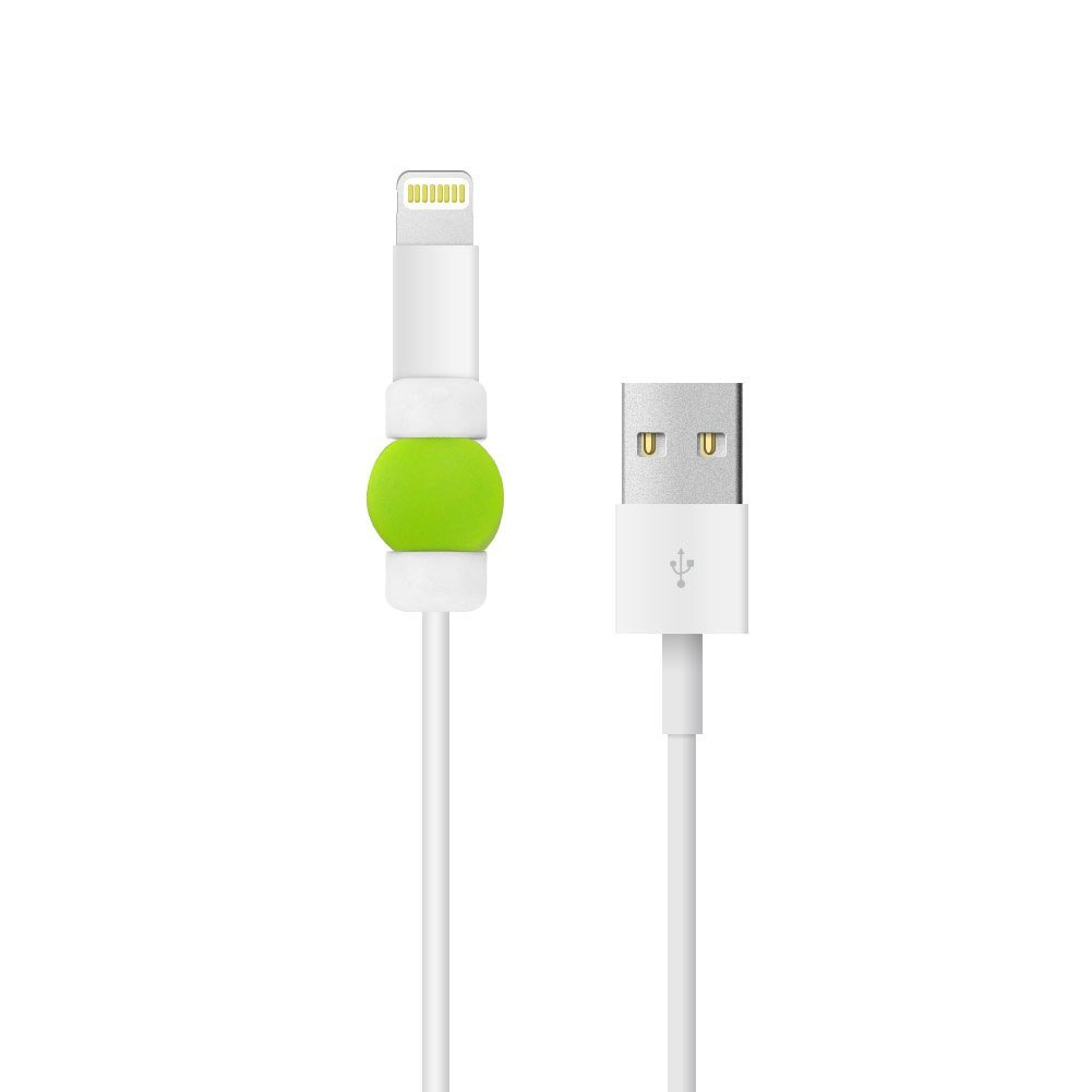 BUTEFO 2 Pcs Charging Cable Protector Saver - Apple iPhone USB Lightning Cable Protector - Protect Apple Original USB Data Cord - Perfect for Travel & On-the-go (Green)