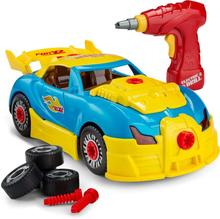 Take Apart Toy Racing Car Kit For Kids,Build Your Own Car Kit Toy For Boys & Girls Aged 3+ - 30 Parts With Realistic Sounds & Li