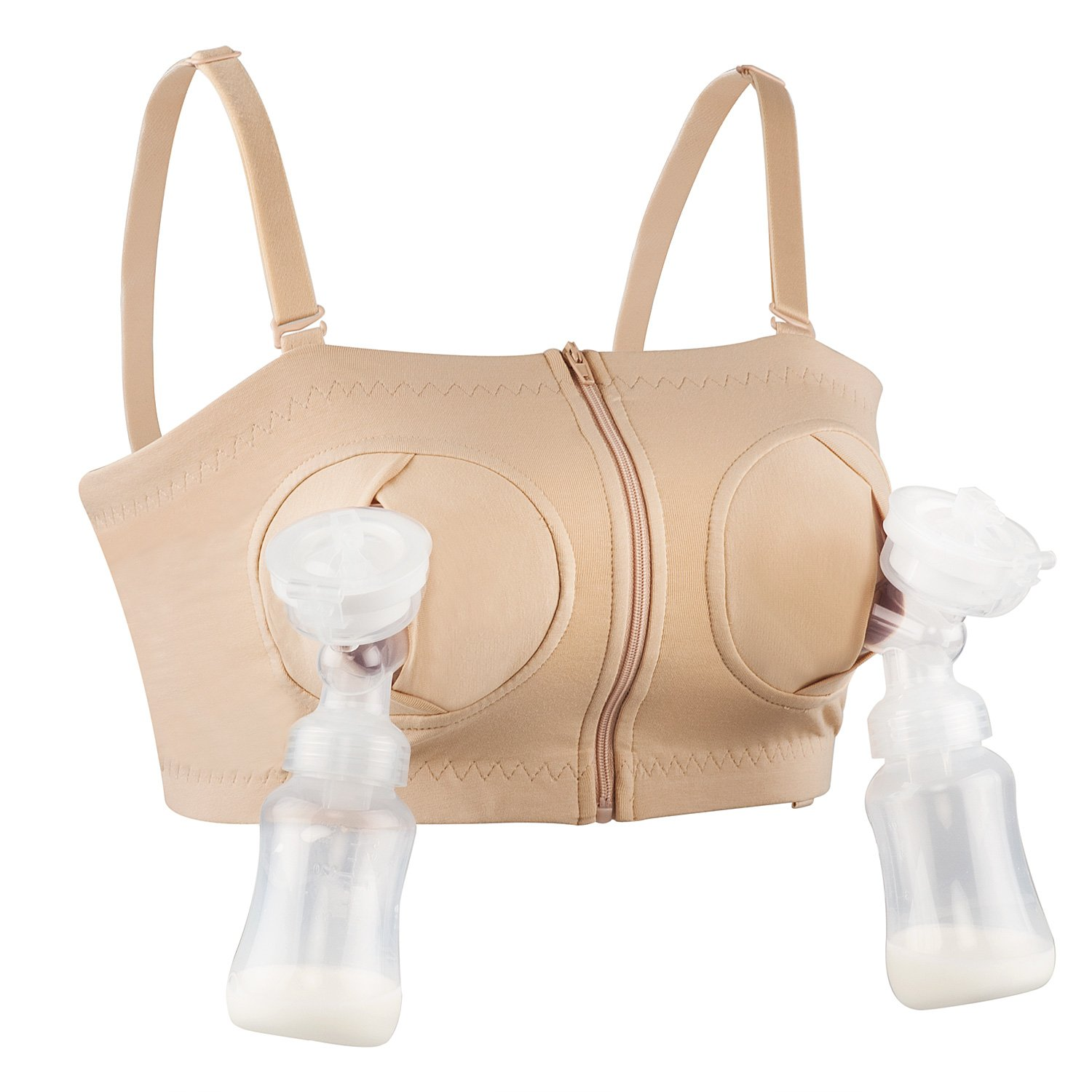 9886cf8cb3c Get Quotations · Hands-Free Pumping Bra Adjustable Breast-Pumps Holding Bra  by JIAN - Suitable for