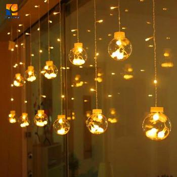 Linkable Lampu Natal Dekorasi Jendela Dipimpin Ruang Tamu Dipimpin