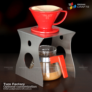station Pour over coffee maker dripper with stand and server DIY set of 3 hand drip set stainless steel coffee holder