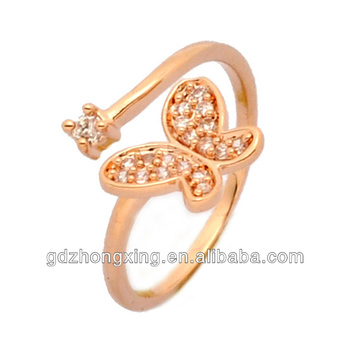 CZ gold rings design for women with price View gold rings design
