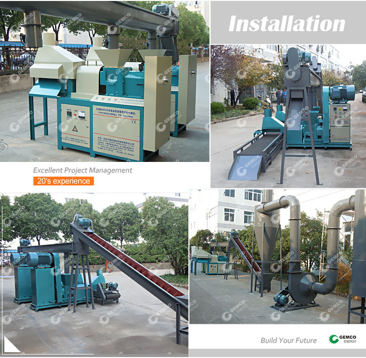 2 ton per hour screw biomass wood briquette extruder machine complete charcoal briquette production line