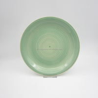 solid green color ceramic dinner plate variety of porcelain dishes cheap charger plates